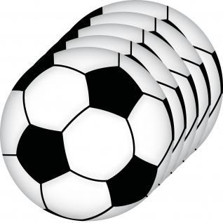 5 Aufkleber 10cm Sticker Ball Fußball Fan Auto Tür Wand EM WM Fußballaufkleber