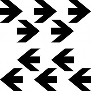 10 Aufkleber Pfeil 5cm x 5cm schwarz Fluss Richtung Tattoo Folie 4061963031841