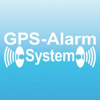 GPS Alarm System weiß gespiegelt Innenseite Auto Aufkleber Scheibe Tattoo Folie