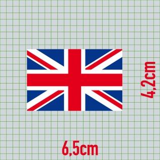 10 Aufkleber 6, 5cm Sticker England UK ENG GB Fußball Fan Deko EM WM Flagge Fahne - Vorschau 3