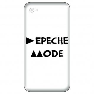 2 Aufkleber Tattoo 5cm schwarz Delta Handy Smartphone Deko Folie Depeche Mode