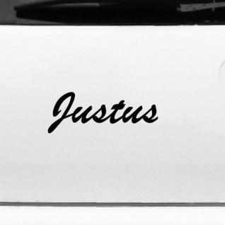 Justus 20cm Kinderzimmer Name Aufkleber Tattoo Deko Folie Auto Fenster Schrank