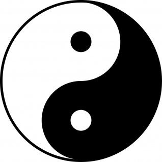 Aufkleber 40cm Yin & Yang schwarz Tattoo Taiji Symbol Deko Auto Fenster Folie
