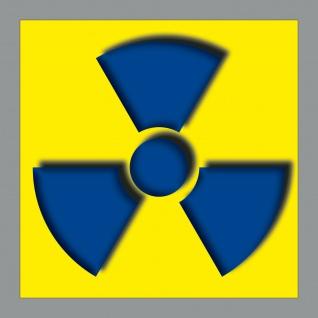 Aufkleber 10cm Sticker radioaktive Röntgen Gamma Strahlung Radioaktivität xray