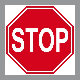 Aufkleber 10cm STOP Schild Sticker Hinweis Warnung Tür Arzt Praxis Werkstatt