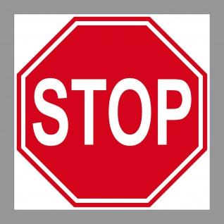 Aufkleber STOP Schild Sticker Halt Hinweis Warnung Tür Arzt Praxis Werkstatt