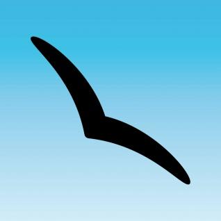Aufkleber Schwalbe 30cm schwarz Silhouette schmal dezent Warnvogel Fenster Glas