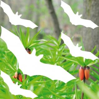 Fledermaus weiß Set L Vogel Schutz Warnvogel Aufkleber Tattoo Deko Fensterschutz