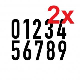 20 Aufkleber schwarz 10cm DIN 1451 Ziffer Zahl Nummer Hausnummer Verkehrsschrift