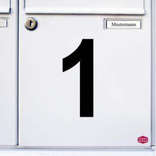 Ziffer 1 schwarz 12cm Aufkleber Tattoo Nummer Zahl Hausnummer Haus Tür Mülltonne - Vorschau 3