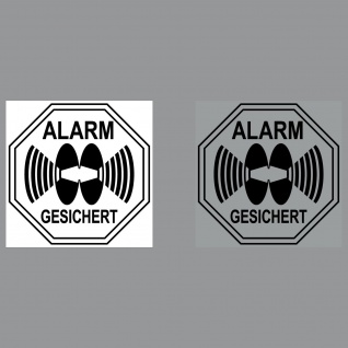Set Alarm Warn Hinweis für Innenseite Fenster Glas Scheibe Auto Haus Wohnwagen