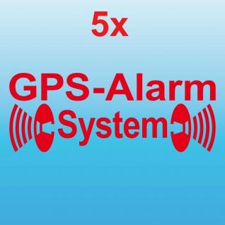5 GPS Alarm System rot gespiegelt Fensterscheibe Schaufenster Aufkleber Tattoo