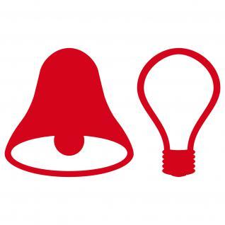 4 Stk Aufkleber rot 5cm Tattoo Tür Taster Schalter Lampe Licht & Klingel Symbole