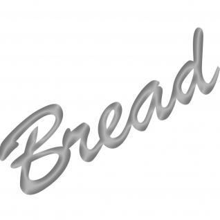 Bread Brot 20cm silber Schriftzug Wandtattoo Aufkleber Tattoo Deko Folie Küche