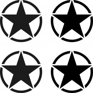 4 Aufkleber 5cm Tattoo schwarz matt USA US Sterne Auto Deko Folie Autoaufkleber