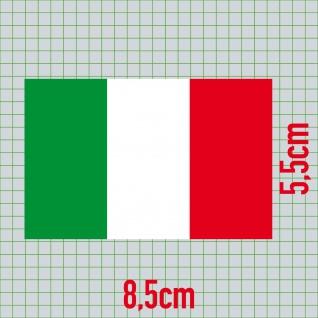 10 Aufkleber 8, 5cm Sticker Italien Italy Fußball EM WM National Flaggen Fahnen - Vorschau 2
