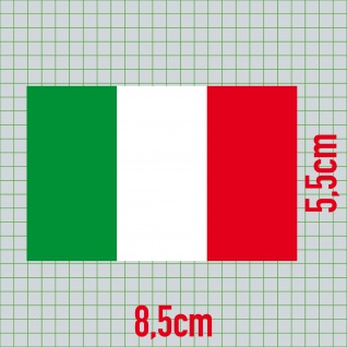 5 Aufkleber 8, 5cm Sticker Italien Italy Fußball EM WM National Flaggen Fahnen - Vorschau 2