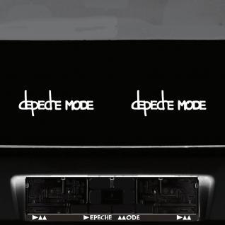2 Aufkleber Tattoo 20cm weiß Exciter Depeche Mode Auto Schriftzug cut Deko Folie