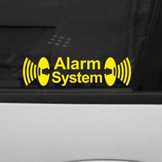 10 Stk. Alarm System Auto Haus Fenster Scheibe Aufkleber Tattoo Folie gespiegelt