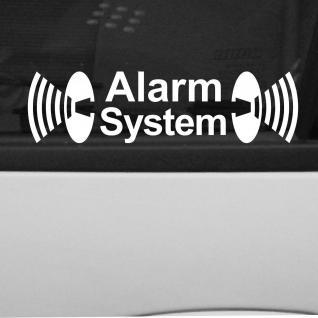 2 Stück Alarm System Aufkleber Tattoo Folie gespiegelt für Innenseite Fenster