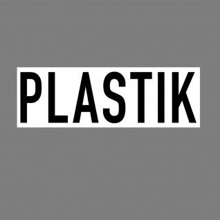 Aufkleber Plastik 20cm Sticker Hinweis Müll Trennung Kontainer 4061963019047