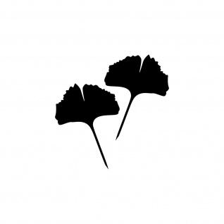 1 Paar 2 Blätter 12cm schwarz voll Ginkgo Blatt Aufkleber Tattoo Ginko Gingko - Vorschau 1