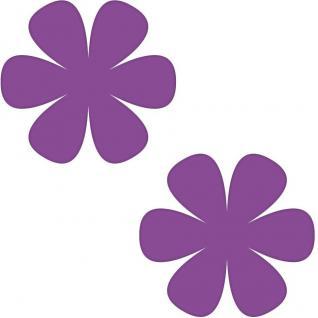 2 Aufkleber 8cm violett Blume Blümchen Wand Tür Kinder Möbel Tattoo Deko Folie