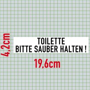 Aufkleber 20cm Toilette Bitte Sauber Halten PVC Sticker Hinweis Tür Wand WC 00 - Vorschau 2