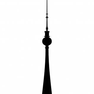 Aufkleber 10cm Fernsehturm Berlin Alexanderplatz Telespargel Tattoo Deko Folie