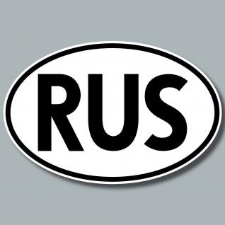 RUS Aufkleber Sticker Russland Länderkennung Länderkennzeichen 4061963019955