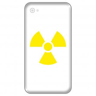 4 Aufkleber Tattoo 5cm gelb Radioaktiv Symbol Logo Handy smartphone Deko Folie