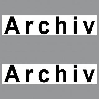 2 Aufkleber 20cm Archiv Sticker Hinweis Schild Tür Tor Regal Karton Eingangstür