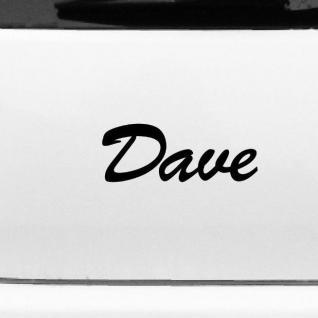 Dave 20cm Kinderzimmer Name Aufkleber Tattoo Deko Folie Auto Fenster Schrank Tür