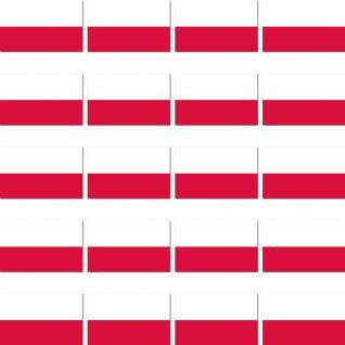 20 Stück Polen Aufkleber Sticker Länder Flagge Fahne RC Modellbau Deko Zubehör