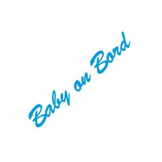 Baby on Board 30cm blau Aufkleber Tattoo Deko Folie Auto Heck Klappe Tür Scheibe