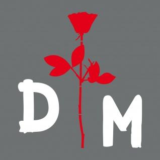 Enjoy the silence Rose 30cm rot + DM 15cm weiß Auto Aufkleber Folie Depeche Mode