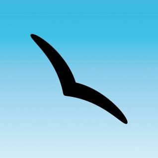 Aufkleber Schwalbe 25cm schwarz Silhouette schmal dezent Warnvogel Fenster Glas
