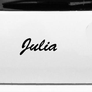 Julia 17cm Kinderzimmer Name Aufkleber Tattoo Deko Folie Auto Fenster Schrank