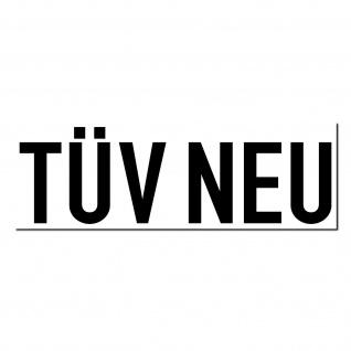 Aufkleber TÜV Neu 20cm Sticker Auto Pkw Kfz Verkauf Gebraucht Wagen Handel