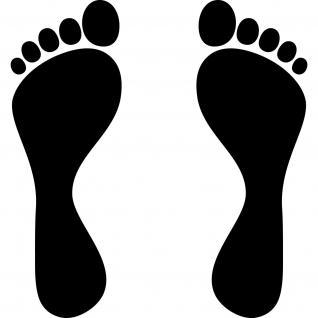 1 Paar 2 Füße 30cm schwarz Fuß Abdruck Aufkleber Wand Möbel Tattoo Deko Folie