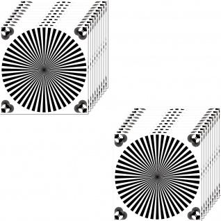 20 Aufkleber 10cm UV Sticker Siemensstern Test Muster Chart Foto Video Kamera