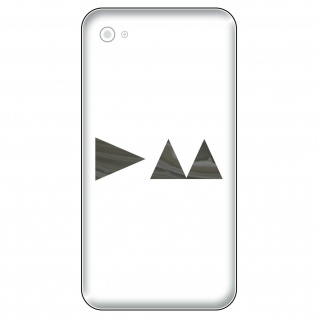 4 Aufkleber Tattoo 5cm chrom Delta Handy Smartphone Auto Deko Folie Depeche Mode