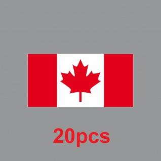 20 Aufkleber 6, 5cm Sticker Kanada CAN canadian Fußball Deko EM WM Flagge Fahne - Vorschau 2