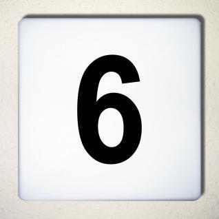 Ziffer 6 schwarz 12cm Aufkleber Tattoo Nummer Zahl Hausnummer Haus Tür Mülltonne