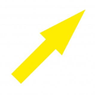 Aufkleber Pfeil 20cm schmal gelb Tattoo Auto Tür Fenster Folie 4061963037386