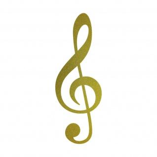 Violinschlüssel 20cm gold Notenschlüssel Musik Auto Aufkleber Tattoo Deko Folie