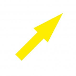 Aufkleber Pfeil 10cm schmal gelb Tattoo Auto Tür Folie Weg Hinweis Lauf Richtung