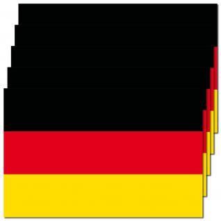 5 Aufkleber 8, 5cm Sticker BRD Deutschland Fußball WM EM National Fahnen Flaggen