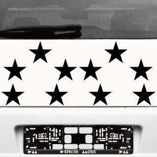 10 Klebesterne 10cm schwarz Sterne Auto Fenster Aufkleber Tattoo cut Deko Folie