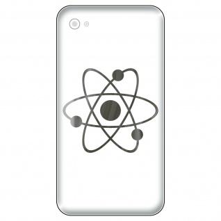4 Aufkleber Tattoo 5cm chrom Big Bang Atom Symbol Handy smartphone Deko Folie